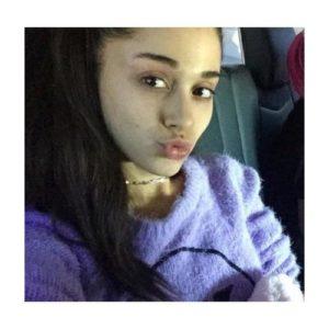 Ariana Grande sin maquillaje