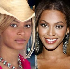 Beyoncé antes y despues
