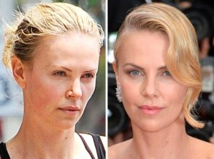 Charlize Theron sin maquillaje