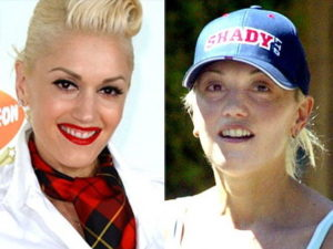 Gwen Stefani sin maquillaje