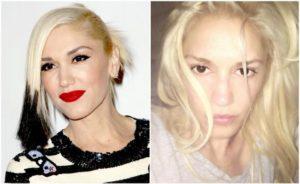 Gwen Stefani sin maquillar