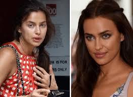 Irina Shayk sin maquillarse