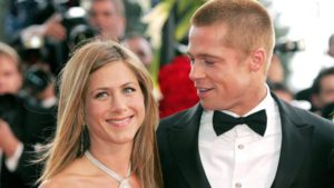 Jennifer Aniston con Brad Pitt