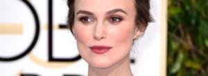 Keira Knightley sin maquillaje