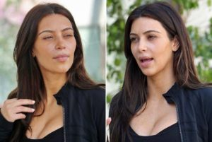 Kim Kardashian al natural
