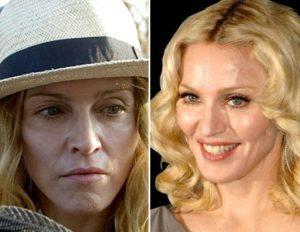 Madonna sin nada de maquillaje