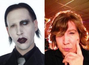 Marilyn Manson sin maquillar
