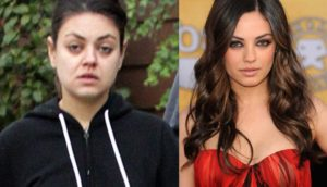 Mila Kunis sin maquillaje