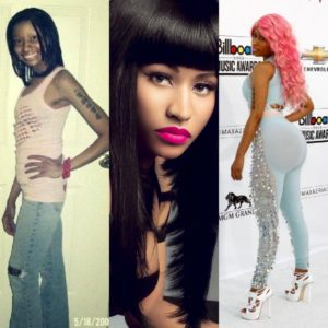 Nicki Minaj antes y despues