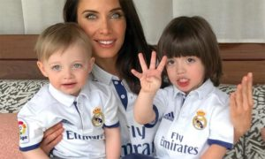 Pilar Rubio con hijos