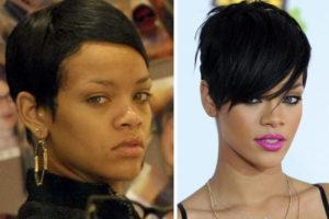 Rihanna sin maquillar