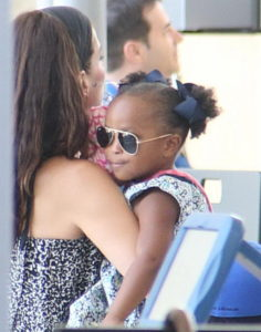 Sandra Bullock y su hija