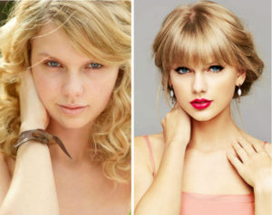 Taylo Swift sin maquillaje