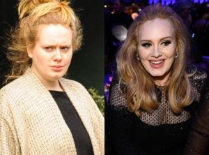 Adele famosa sin maquillaje