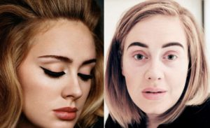 Adele sin maquillajes