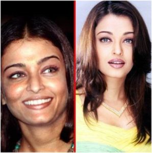 Aishwarya Rai sin maquillaje