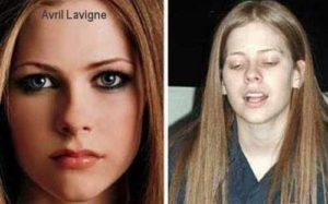 Avril Lavigne sin maquillaje