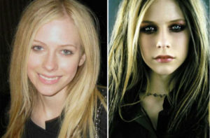 Avril Lavigne sin maquillar