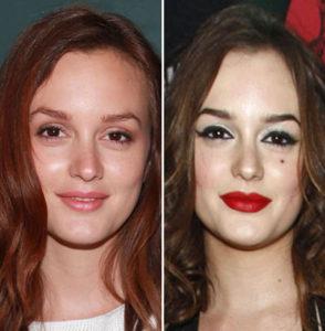 Leighton Meester sin maquillaje