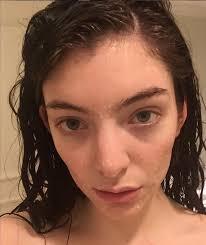 Lorde sin maquillaje
