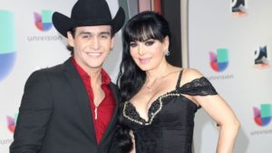 Maribel Guardia y su hijo