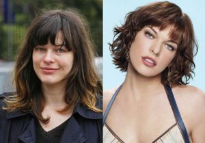 Milla Jovovich sin maquillajes