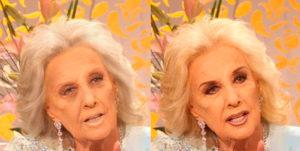 Mirtha Legrand sin maquillaje