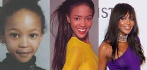 Naomi Campbell antes y despues