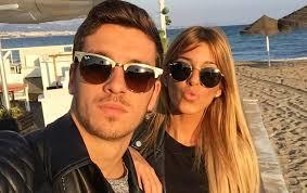 Oriana Marzoli con su novio