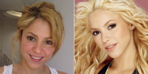 Shakira sin maquillajes