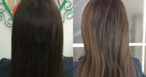 antes y después mechas babylights