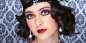 maquillaje años 20