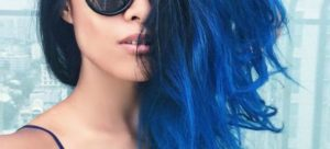 mechas azules