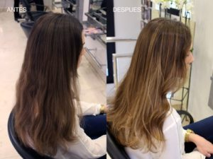 mechas babylights antes y despues