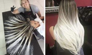 mechas blancas californianas