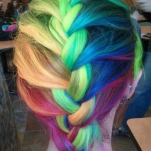 mechas de colores fantasia