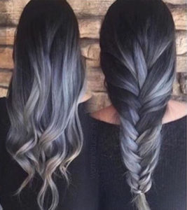 mecha grises con peinados