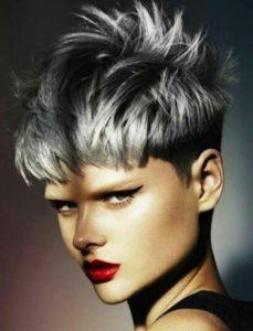 mechas grises pelo corto