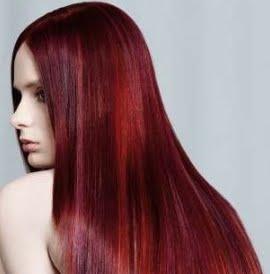 mechas rojas para pelo largo