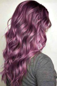 mechas rosas pelo largo