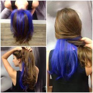 mechas azules varias
