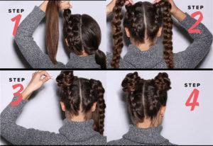 peinados sencillos con trenzas