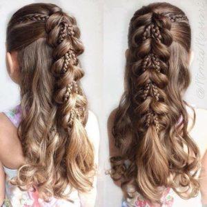 peinado sencillo eplo largo