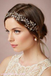 peinados con diademas para novias