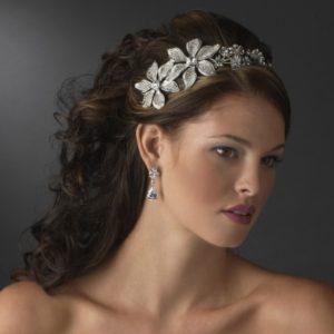 peinados con diadema pelo largo novia