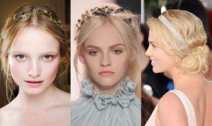 peinados con diademas pelo largo