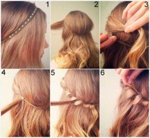 peinados con diademas pelo suelto