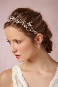 peinados con diademas recogidos
