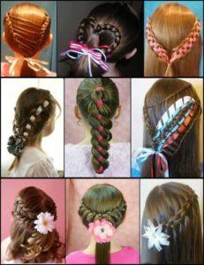 peinados para nias con cintas