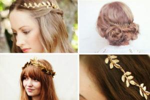 peinados de novia griegos